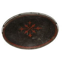 Black Tray with Bordure and Red Star