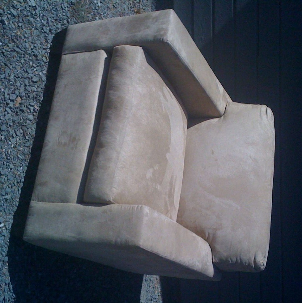 Tan suede club chairs for sale at 1stdibs for Suede couches for sale