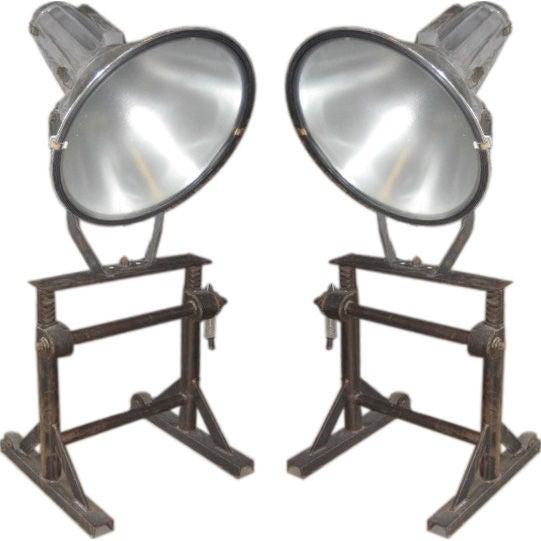 Pair of Vintage Adjustable Philips Floor Lamps, Netherlands, c. 1950s