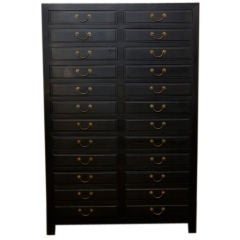 Chinese Black Ebonized Lacquer Chest