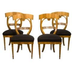 Suite of Biedermeier Chairs