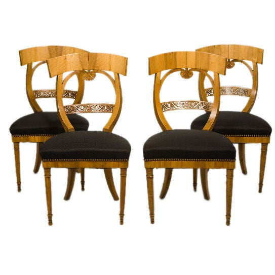 Suite of Biedermeier Chairs For Sale