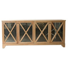 Limed Oak Mirrored Buffet