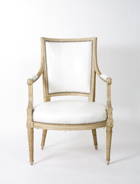 19th Century French Louis XVI Style Armchair For Sale