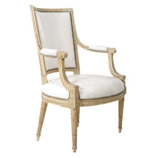 French Louis XVI Style Armchair For Sale