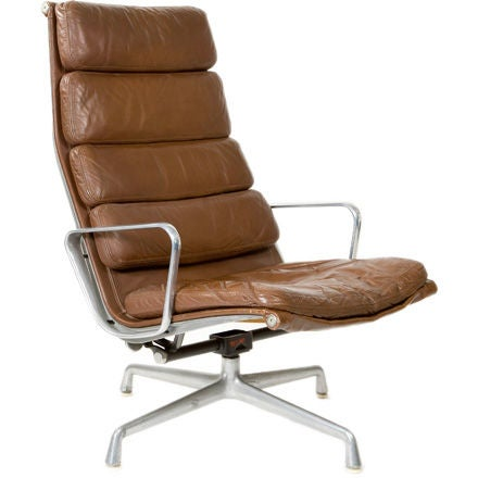 eames leather lounge chair at 1stdibs