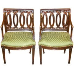 Pair of 18th Century Neoclassical Armchairs