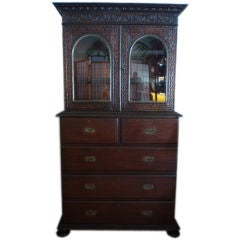 Anglo Indian Bombay Blackwood 3 Piece Bookcase