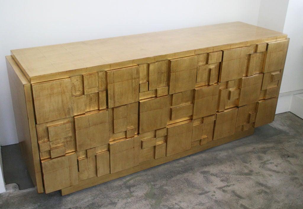 Gold leaf sideboard credenza designed by lane at 1stdibs for Sideboard gold