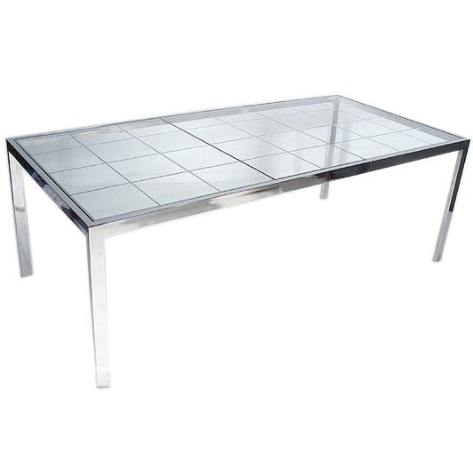 Chrome Extendable Glass Dining Table after Pierre cardin  : XXXpierrecardindiningtablemain from www.1stdibs.com size 533 x 533 jpeg 17kB