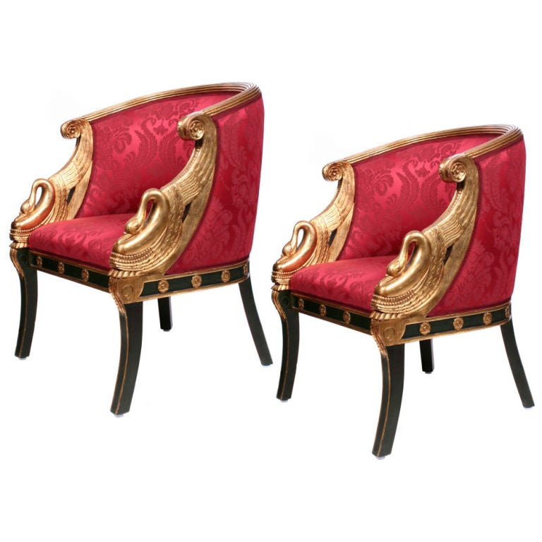 A Pair of Second Empire Fauteuil Gondole France at 1stdibs : pairofredchairs1 from www.1stdibs.com size 768 x 768 jpeg 60kB