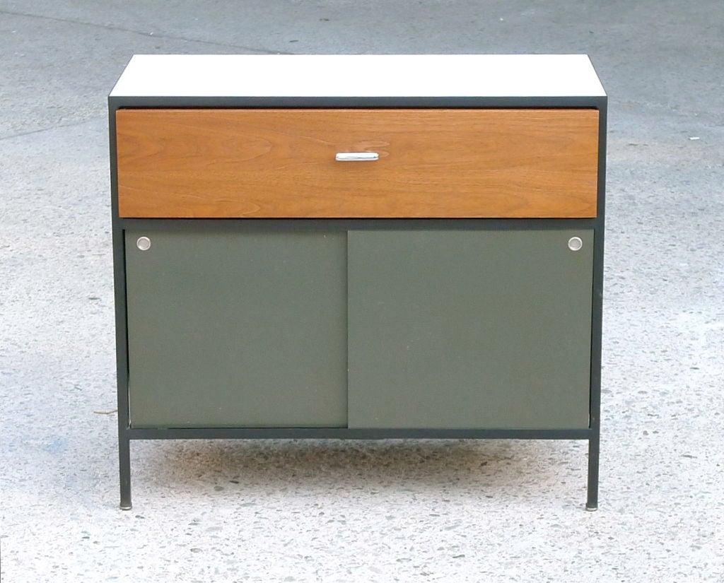 george nelson steelframe group bureau for herman miller 1954 at 1stdibs. Black Bedroom Furniture Sets. Home Design Ideas