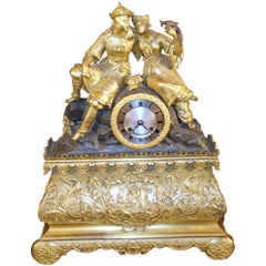 Antique French Chinoiserie Design Clock