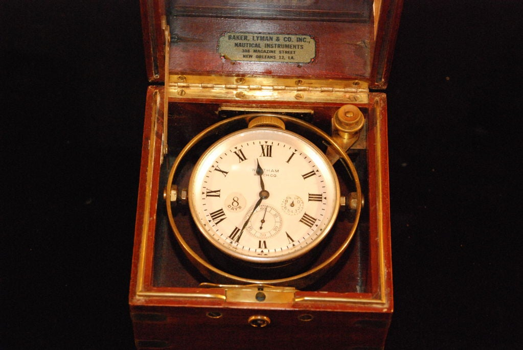 Antique American Waltham Ship Chronometer At 1stdibs