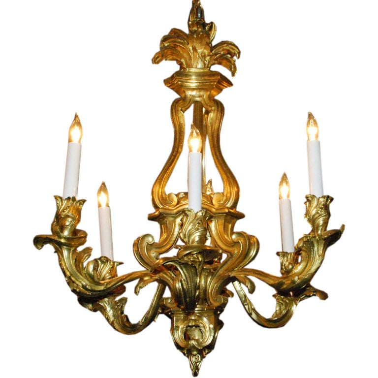 Antique French Ormulu Bronze Chandelier At 1stdibs