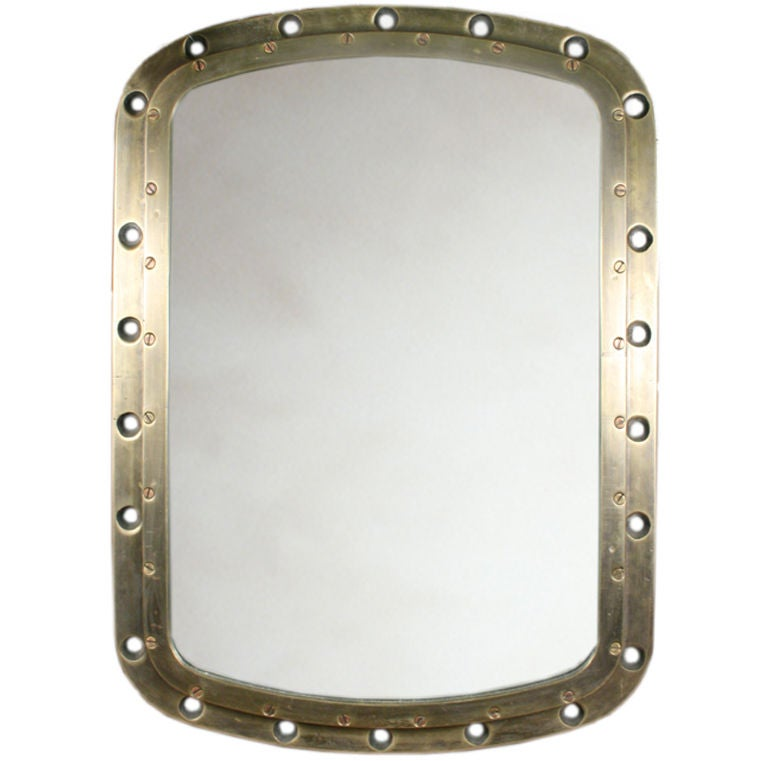 Antique Port Hole Mirror