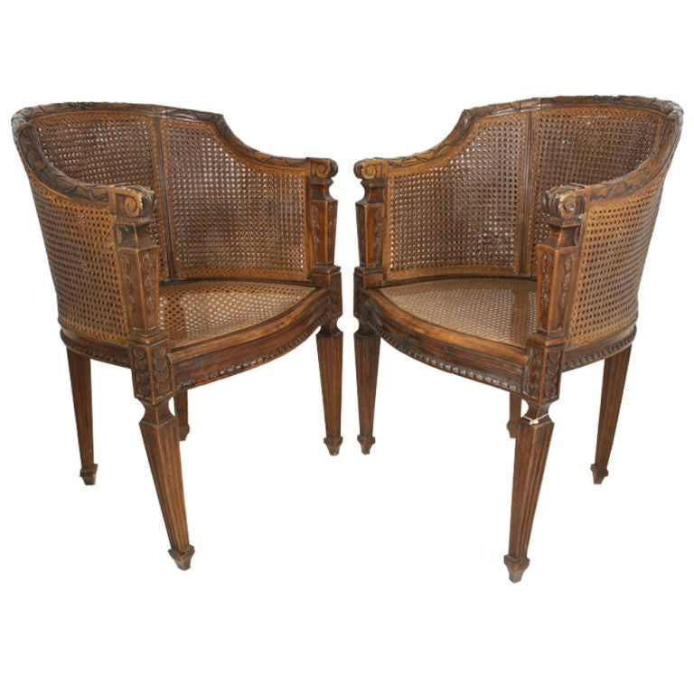 Antique highback wicker chairs at 1stdibs for What is wicker furniture