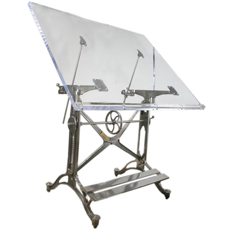 Antique Acrylic Drafting Table At 1stdibs