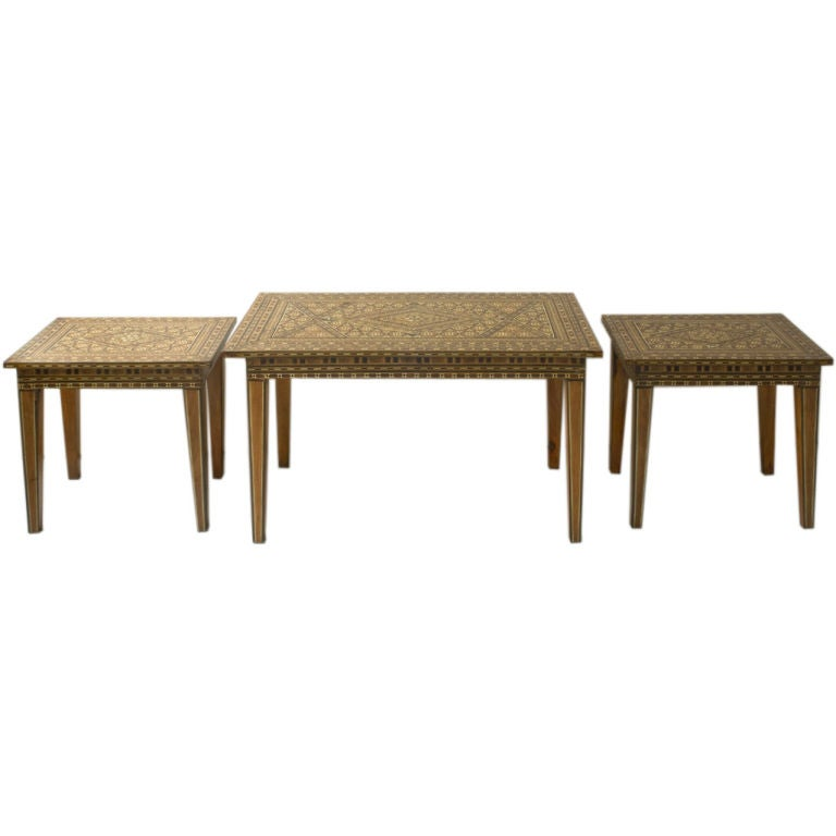 Set Of 3 Orientaliste Style Coffee Tables At 1stdibs
