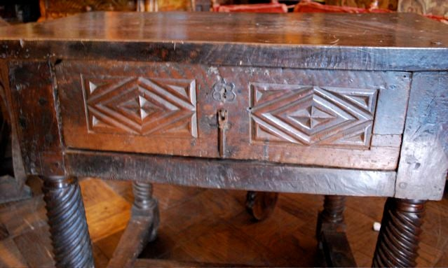 17th Century Spanish Table Turned Legs 2