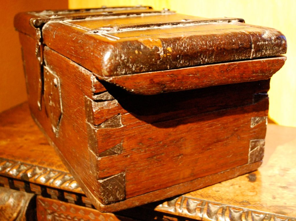 17th century spanish document box with iron hardware at for 17th century french cuisine