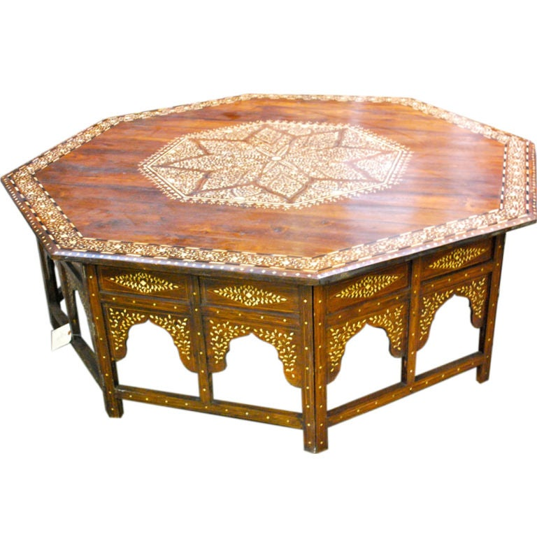 Inlaid Syrian Coffee Table At 1stdibs