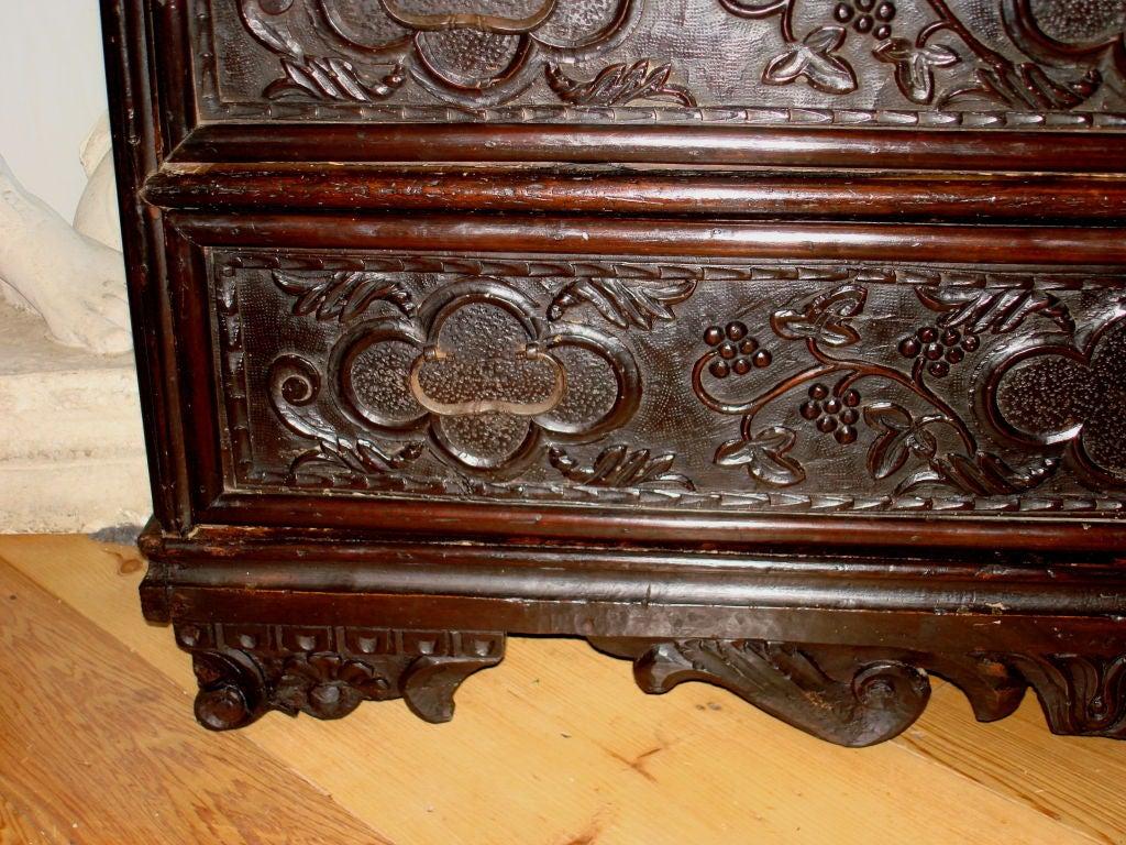 period lombard italian baroque walnut commode at 1stdibs