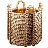 A Modern Rush Log Basket