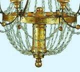Crystal and Gilt Metal Chandelier thumbnail 5