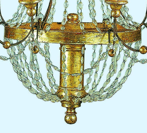 Crystal and Gilt Metal Chandelier image 5