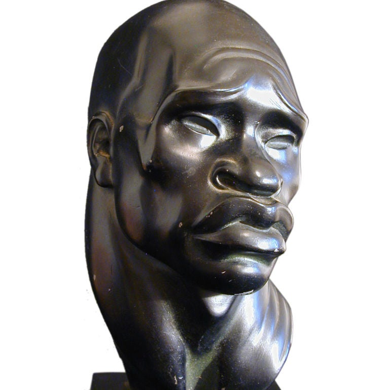 Ceramic African Heads By Fred Press At 1stdibs