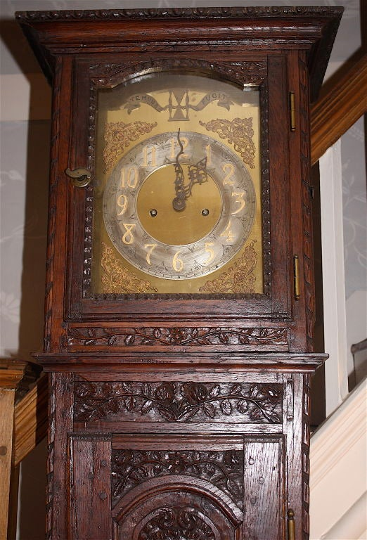 French Louis XV Tall Case Clock For Sale