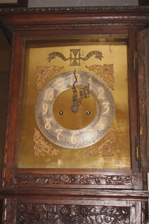 18th Century Louis XV Tall Case Clock For Sale