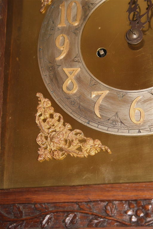 Metal Louis XV Tall Case Clock For Sale