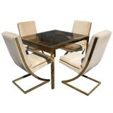 Milo Baughman Thayer Coggin Brass Dining Table And Chairs