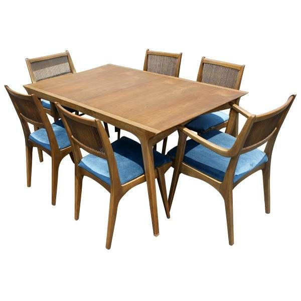 Superbe Van Koert For Drexel Dining Table And 6 Chairs For Sale