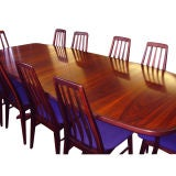 Danish Rosewood Dining Table With Eight Chairs image 2