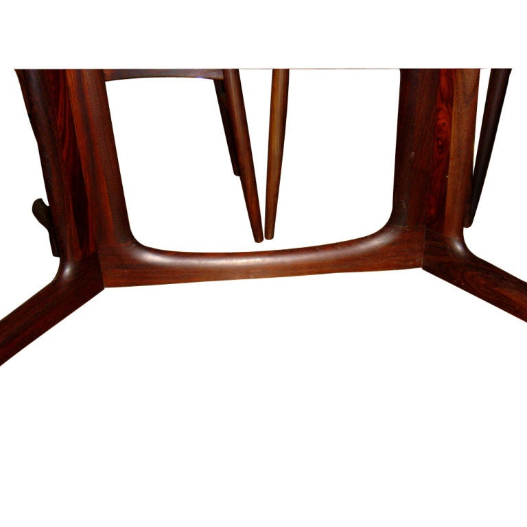 Danish Rosewood Dining Table With Eight Chairs 4