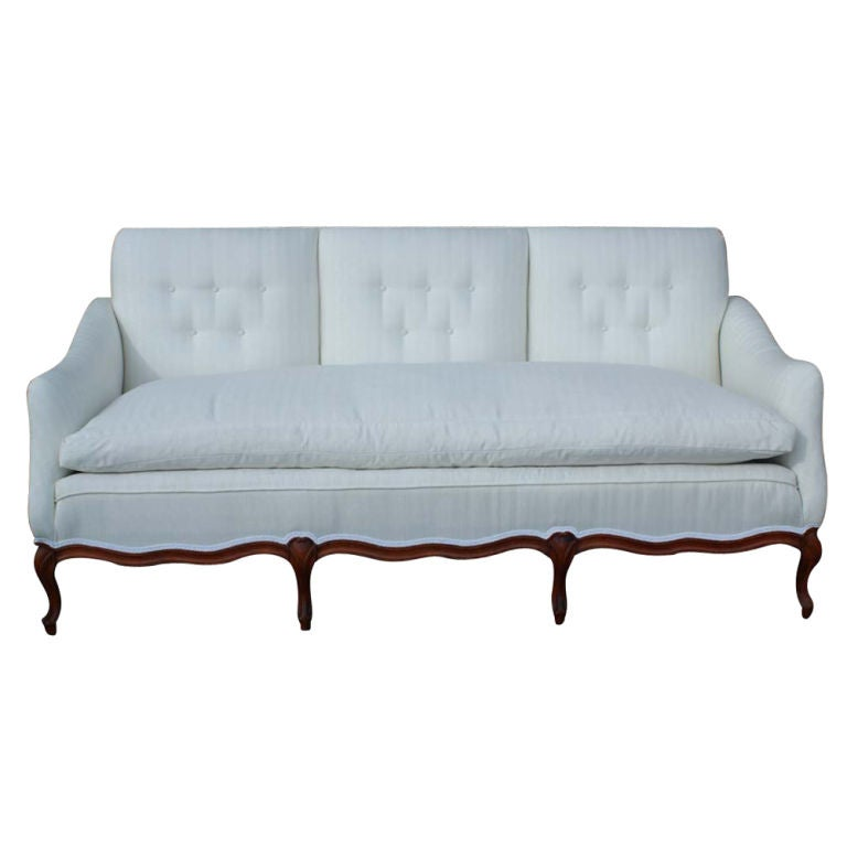 french country custom made sofa at 1stdibs. Black Bedroom Furniture Sets. Home Design Ideas