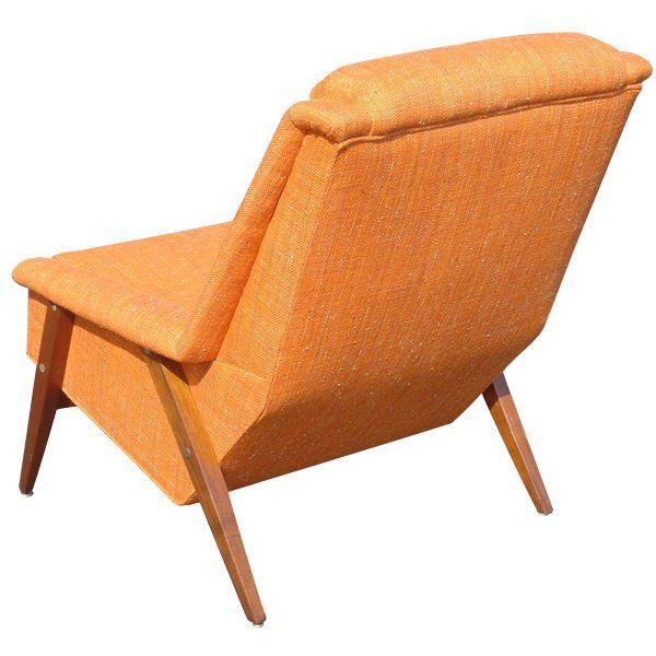Scandanavian Teak Lounge Chair And Ottoman At 1stdibs