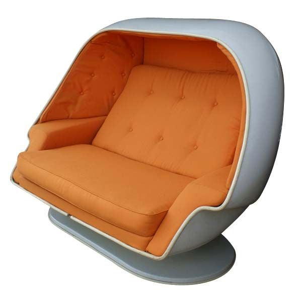Ordinaire Two Person Alpha Stereo Pod Egg Chair With An Ottoman. Made In The 1960u0027s By