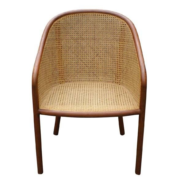 Set of Eight Ward Bennett Cane Chairs at 1stdibs
