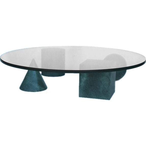 Vignelli Green Metafora Coffee Table At 1stdibs