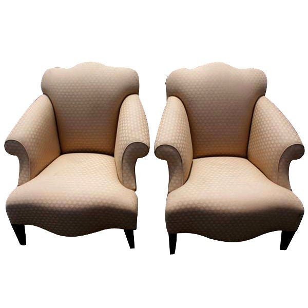 Pair Donghia Luciano Chairs At 1stdibs