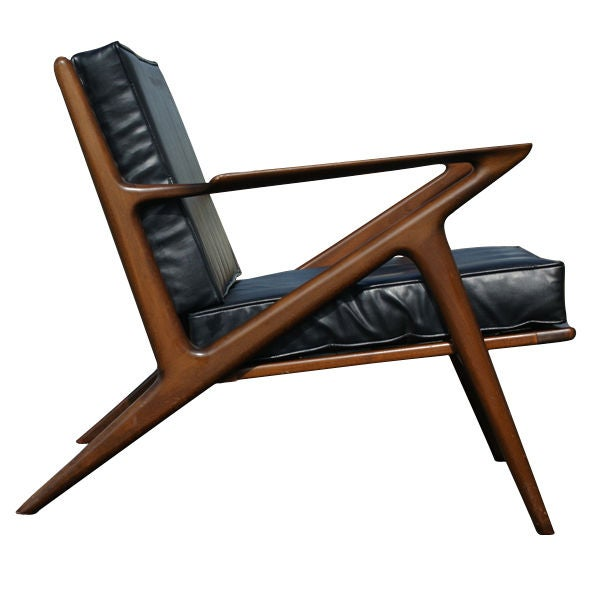 Poul jensen danish z chair for birking at 1stdibs for Z chair mid century