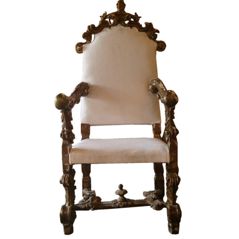 17c louis xiv fauteuil tuscany at 1stdibs. Black Bedroom Furniture Sets. Home Design Ideas