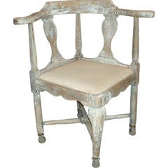 18c Swedish Corner Chair