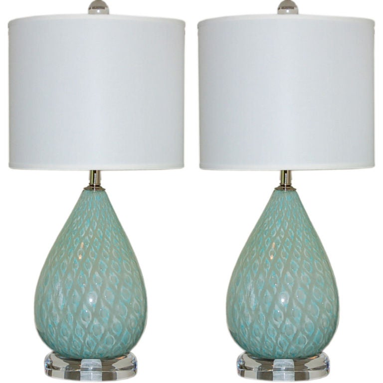 blue bedside table lamp