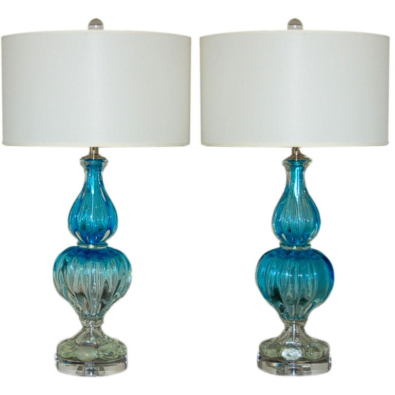 Pair of iconic murano table lamps by archimede seguso at for Iconic design lamps