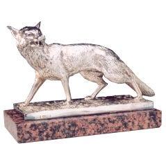 Walker & Hall Sterling Silver Fox.